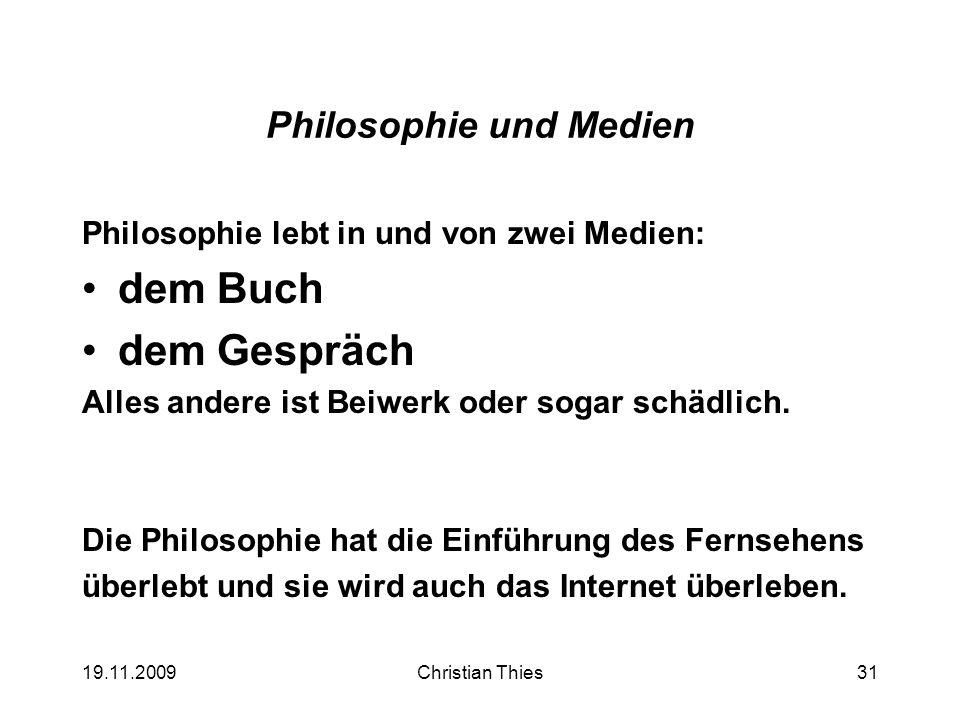 Philosophie und Medien