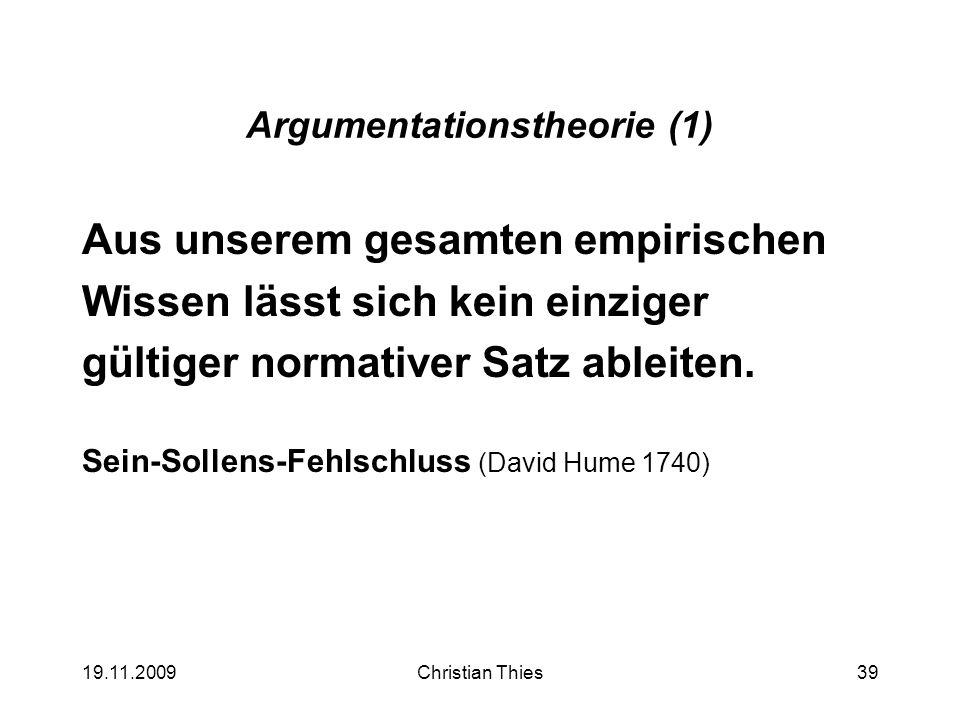 Argumentationstheorie (1)