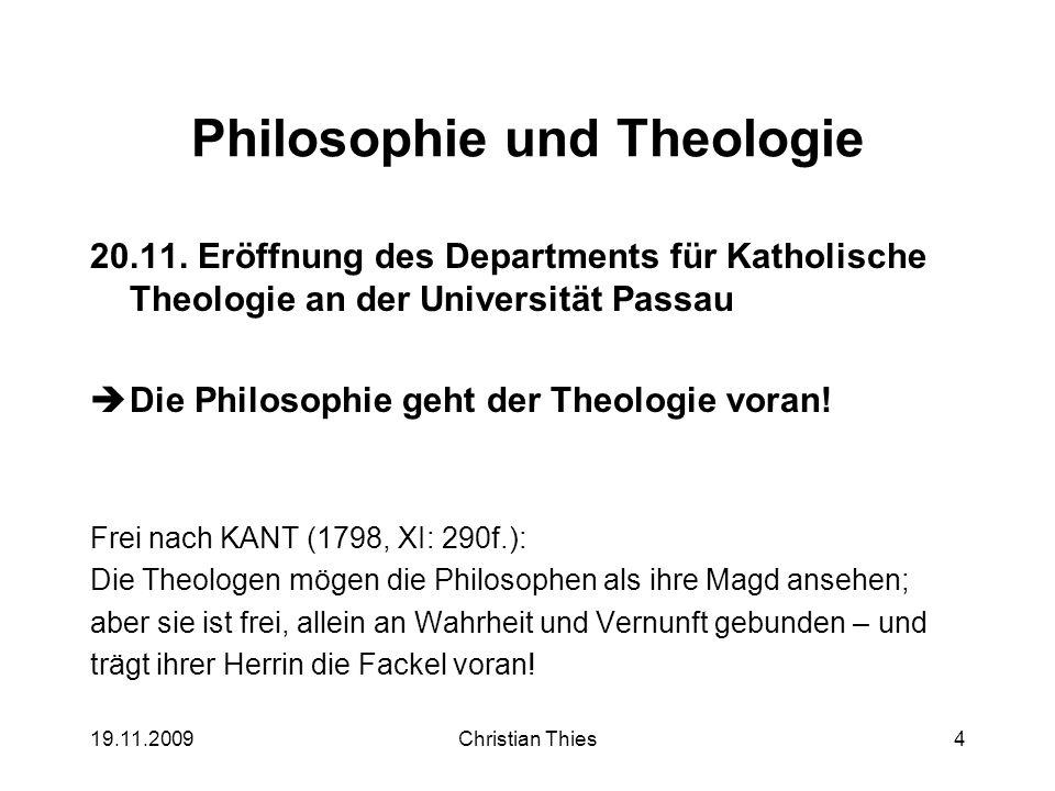 Philosophie und Theologie