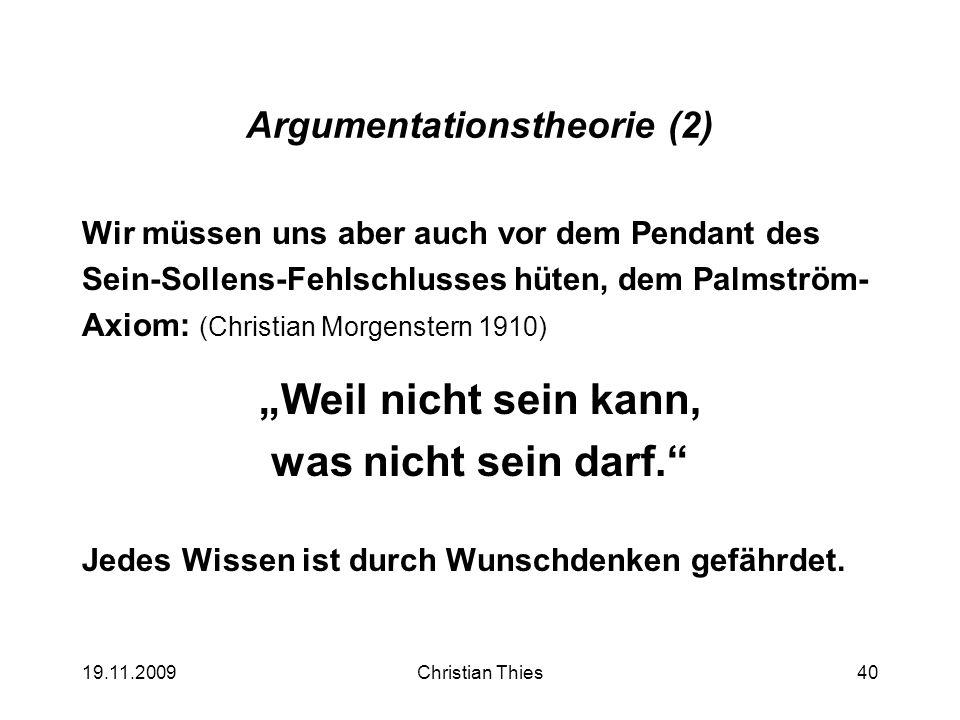 Argumentationstheorie (2)