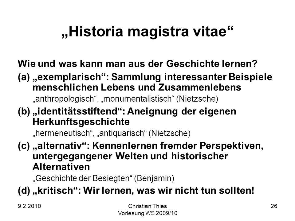 """""""Historia magistra vitae"""