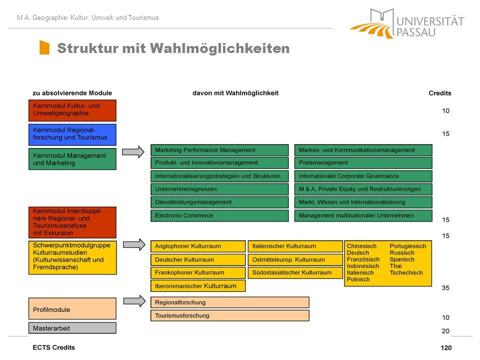 Struktur mit Wahlmöglichkeiten
