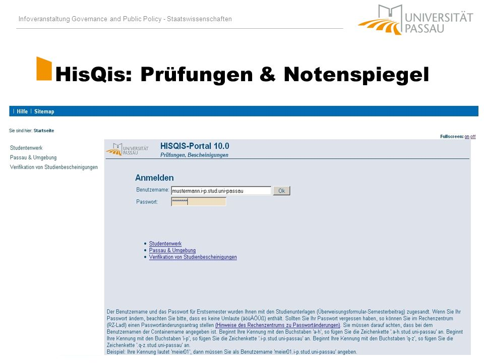 HisQis: Prüfungen & Notenspiegel