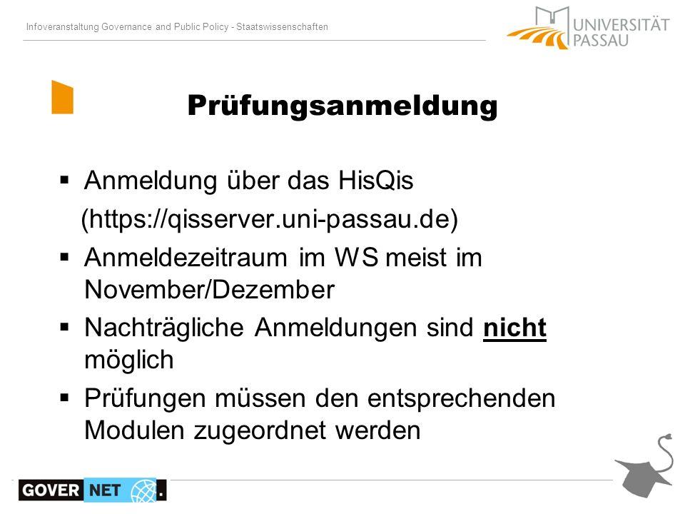 Prüfungsanmeldung Anmeldung über das HisQis