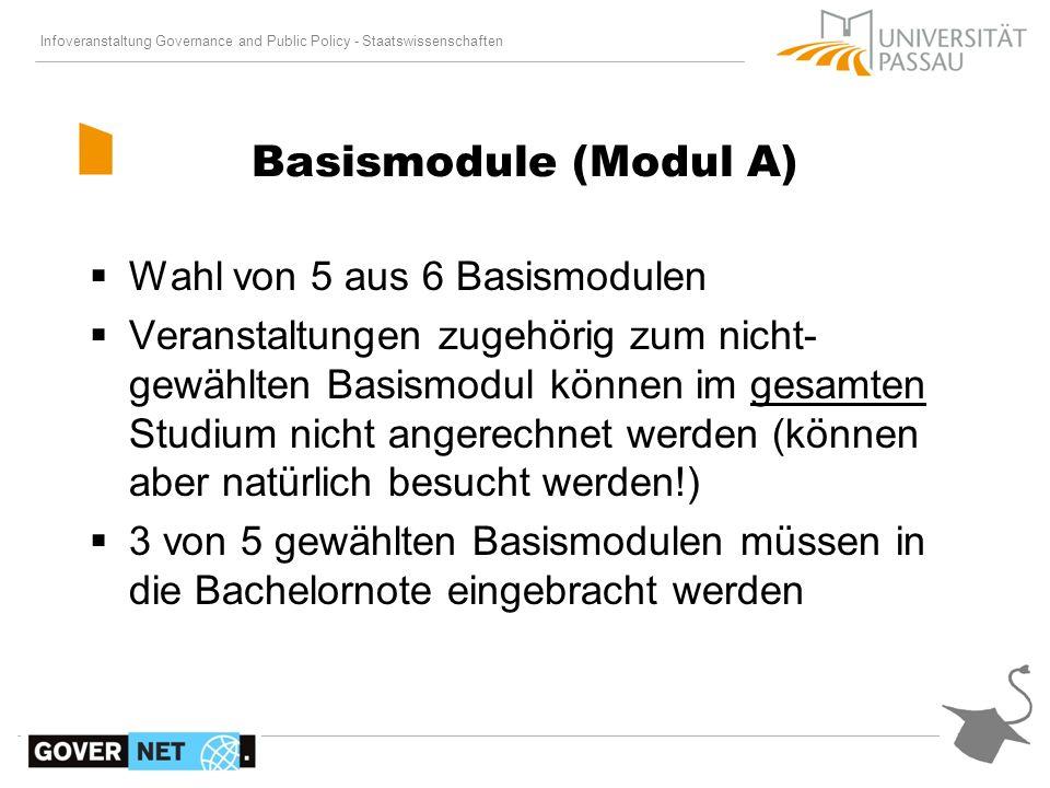 Basismodule (Modul A) Wahl von 5 aus 6 Basismodulen