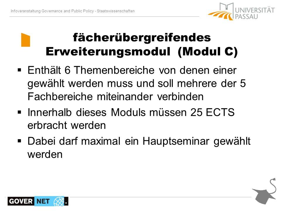 fächerübergreifendes Erweiterungsmodul (Modul C)