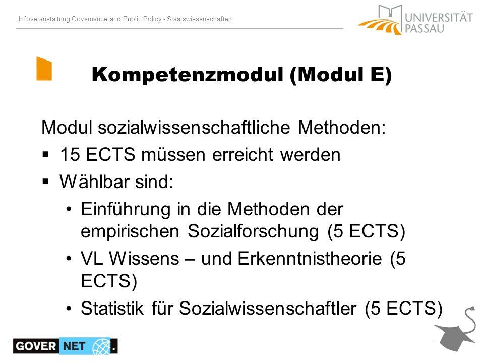 Kompetenzmodul (Modul E)