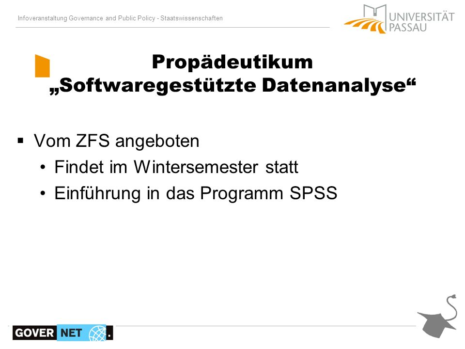 "Propädeutikum ""Softwaregestützte Datenanalyse"