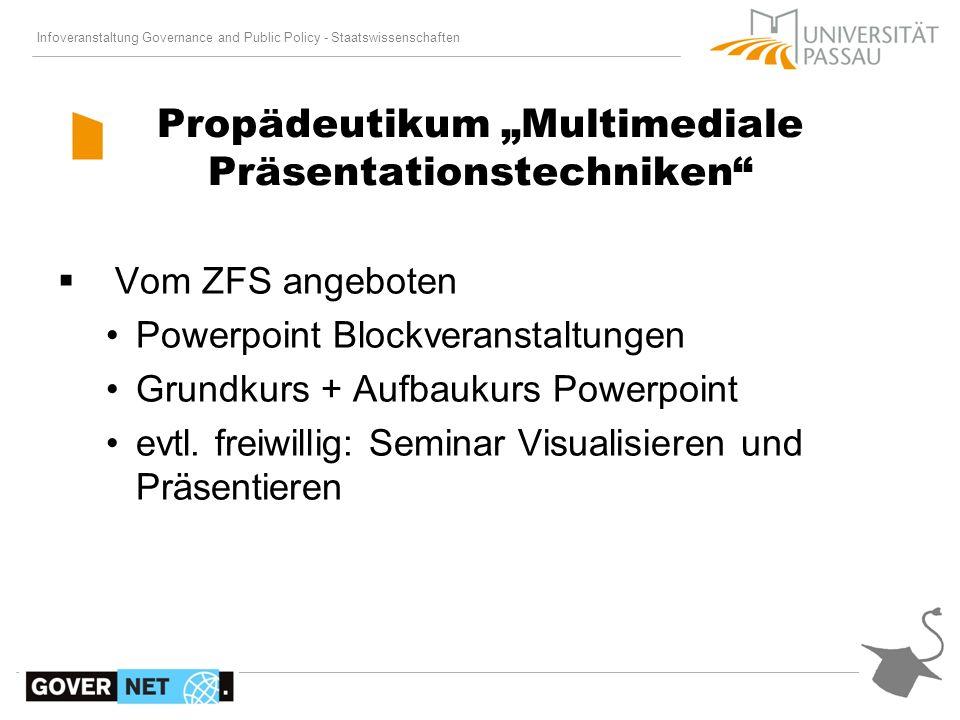 """Propädeutikum """"Multimediale Präsentationstechniken"""