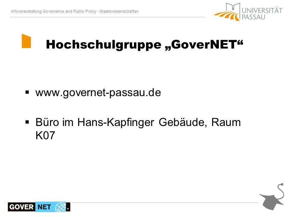 "Hochschulgruppe ""GoverNET"