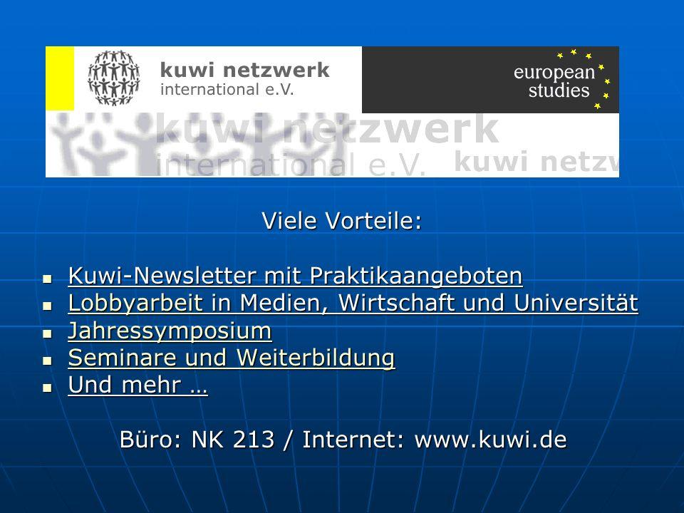 Büro: NK 213 / Internet: www.kuwi.de