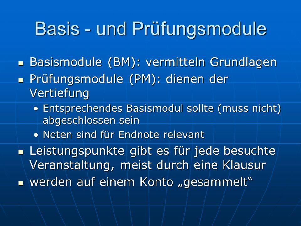 Basis - und Prüfungsmodule