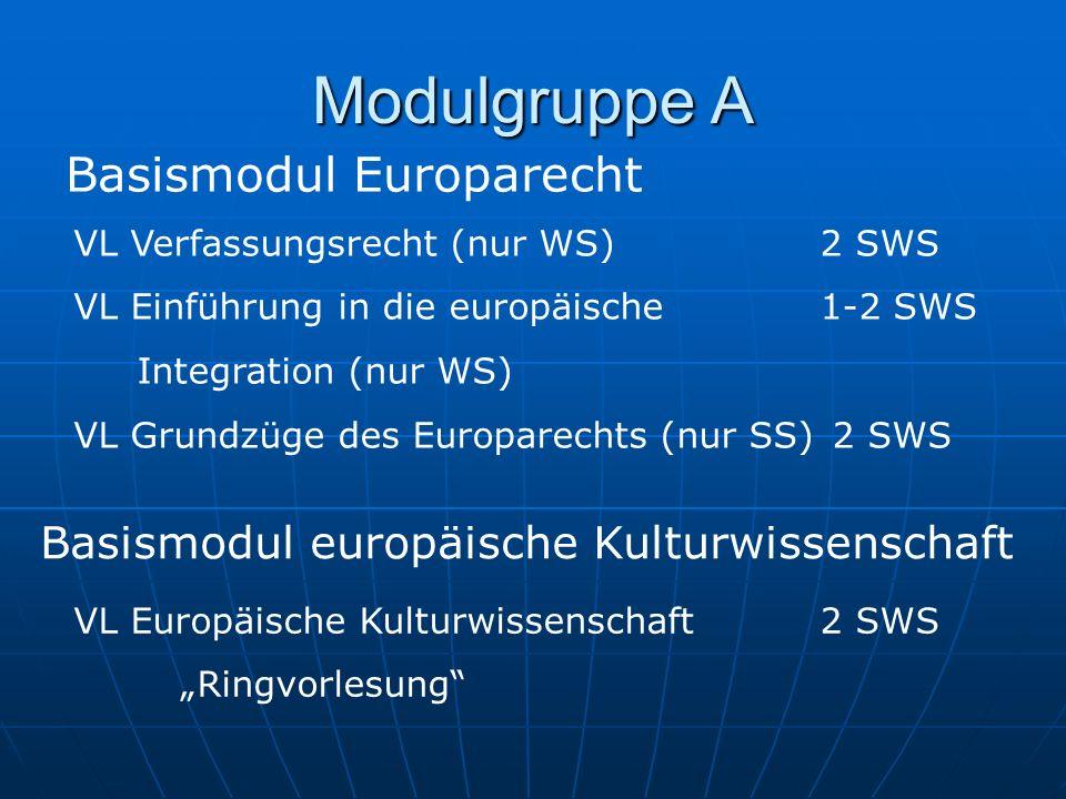 Modulgruppe A Basismodul Europarecht