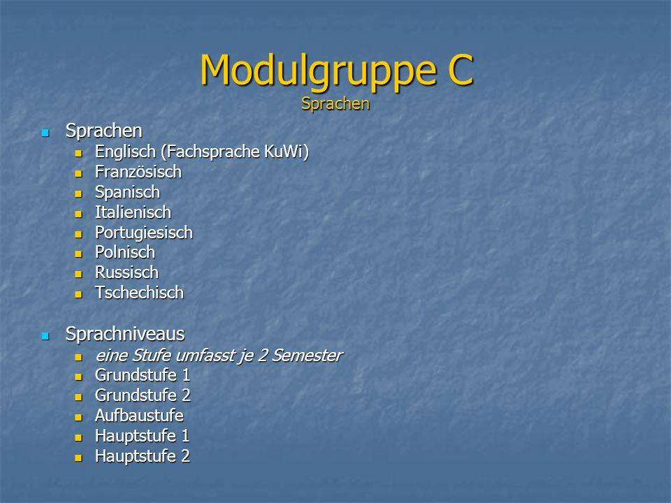 Modulgruppe C Sprachen