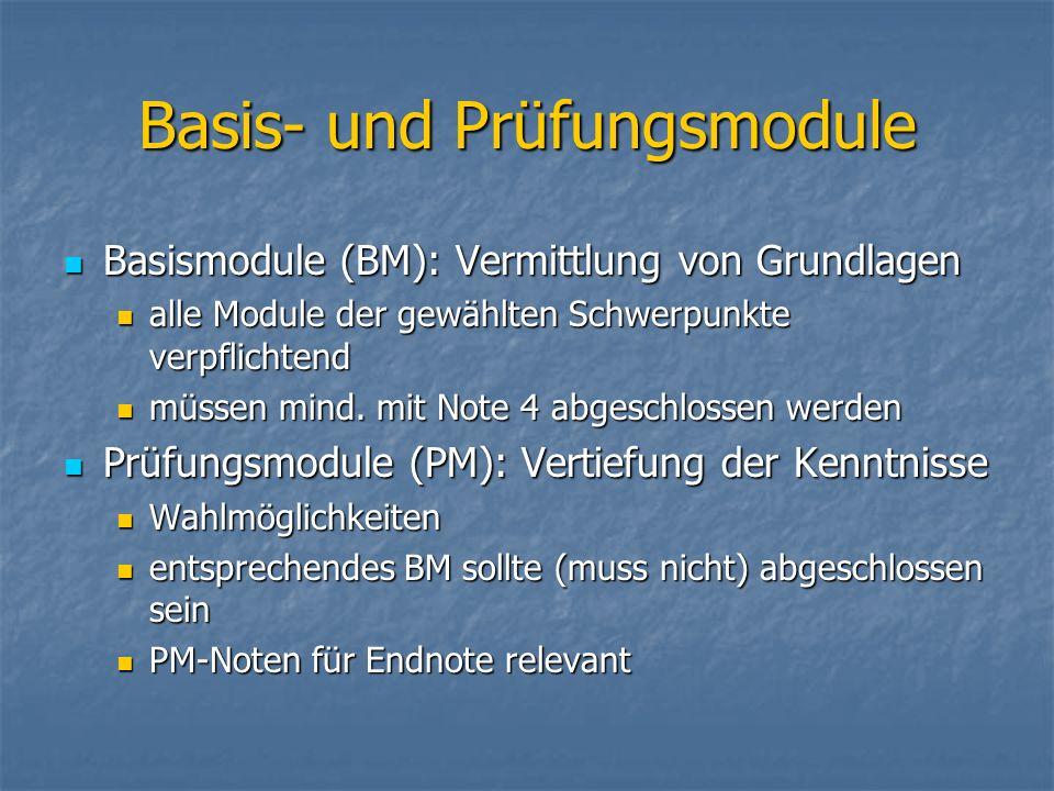 Basis- und Prüfungsmodule