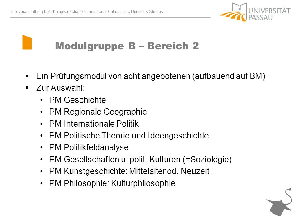 Modulgruppe B – Bereich 2
