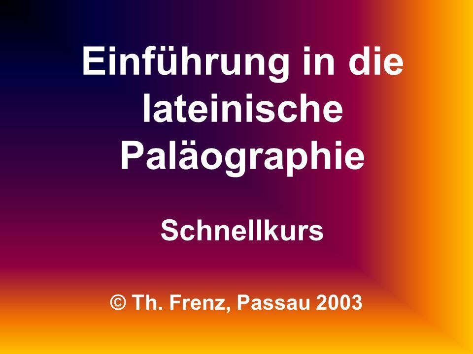 Einführung in die lateinische Paläographie Schnellkurs