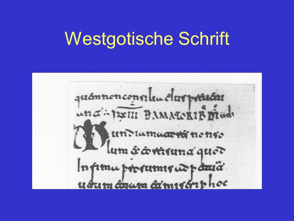 Westgotische Schrift