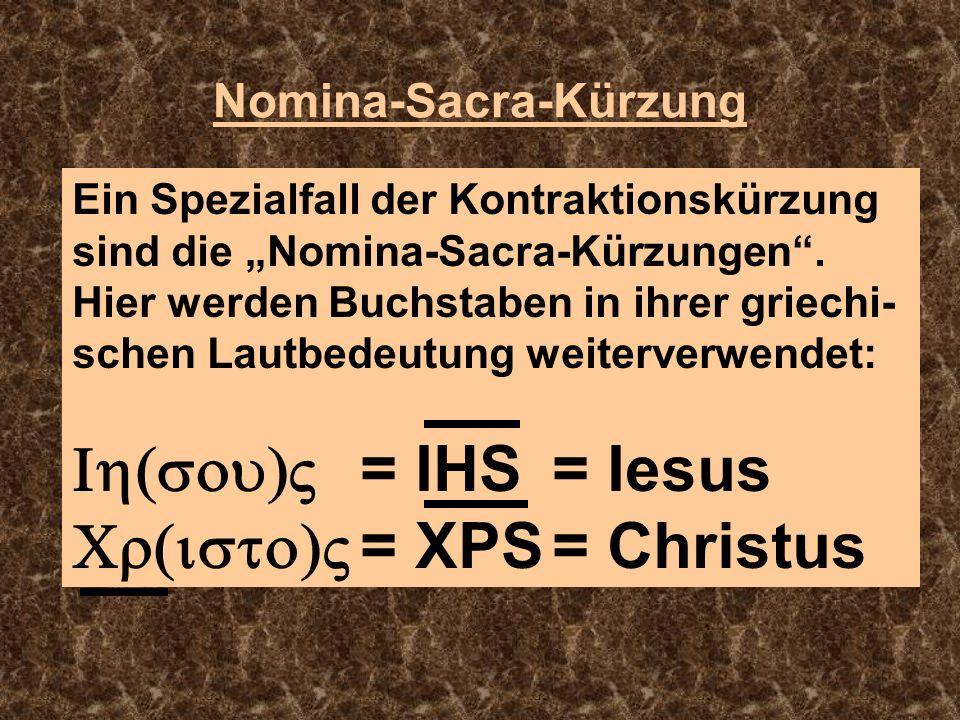 Nomina-Sacra-Kürzung