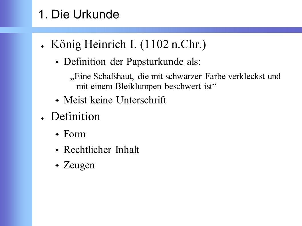König Heinrich I. (1102 n.Chr.)