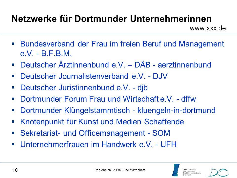Netzwerke für Dortmunder Unternehmerinnen www.xxx.de