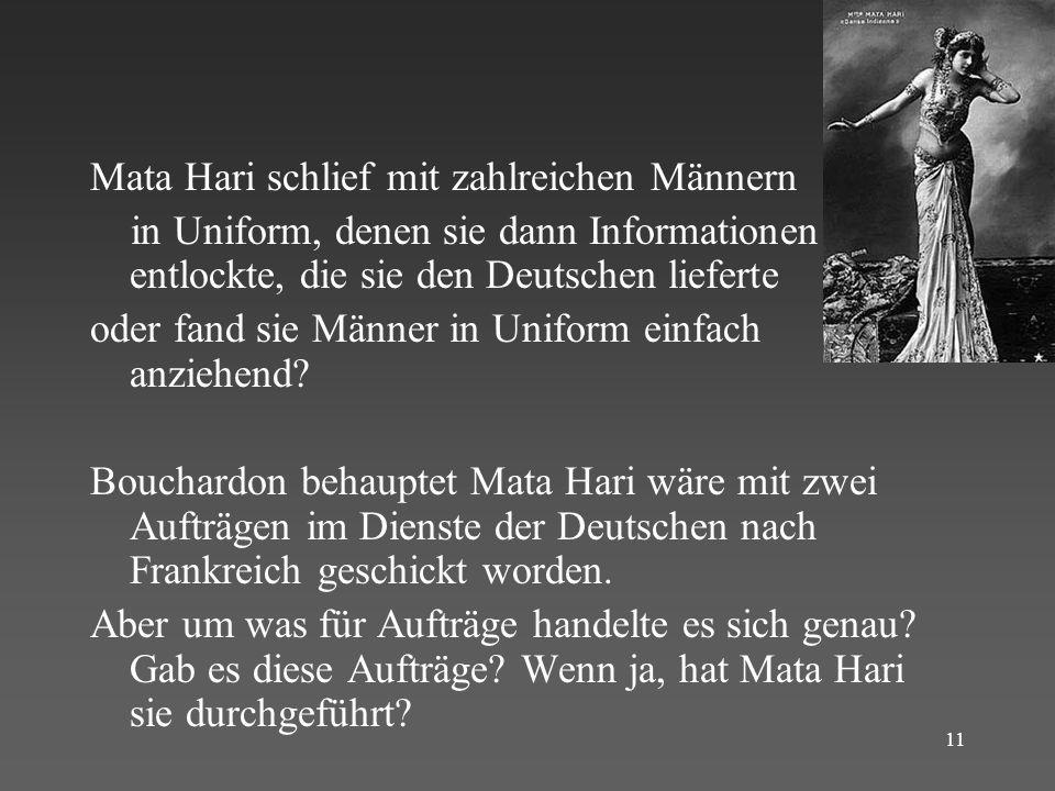 Mata Hari schlief mit zahlreichen Männern
