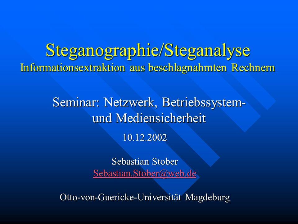 Seminar: Netzwerk, Betriebssystem- und Mediensicherheit