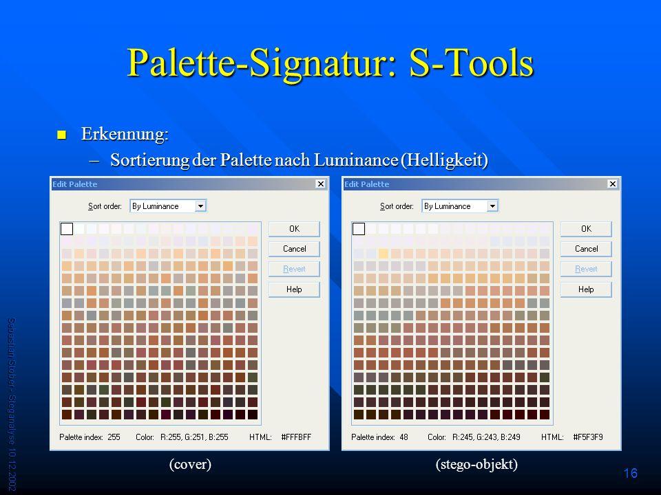 Palette-Signatur: S-Tools