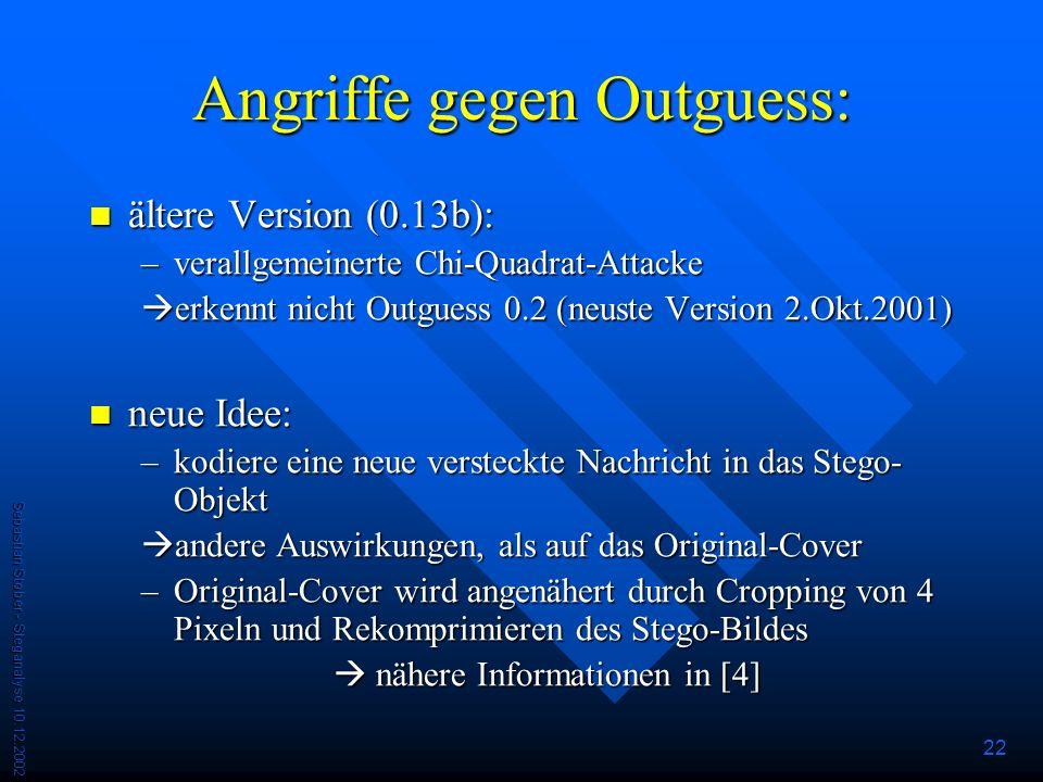 Angriffe gegen Outguess: