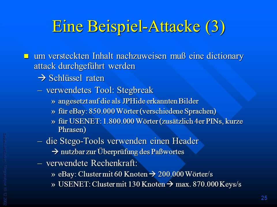 Eine Beispiel-Attacke (3)