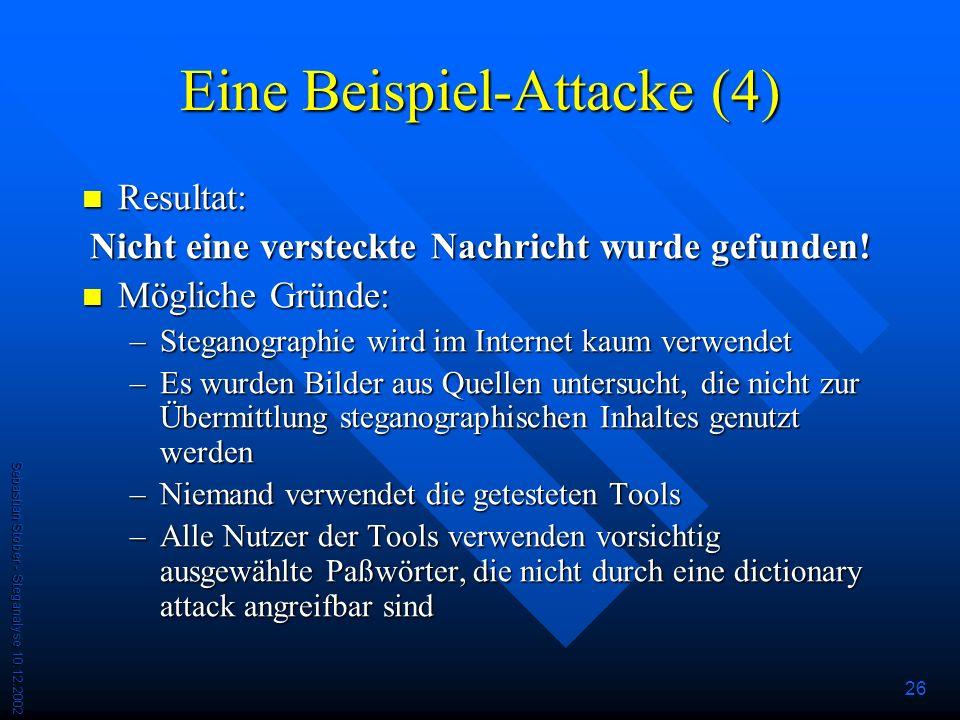 Eine Beispiel-Attacke (4)
