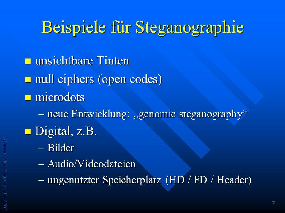 Beispiele für Steganographie