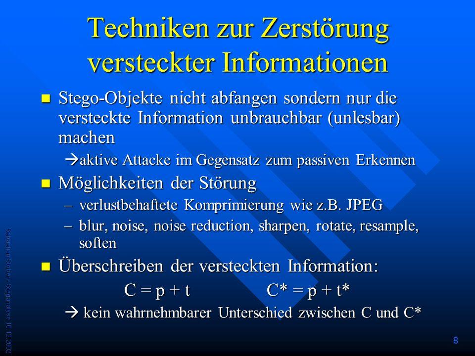 Techniken zur Zerstörung versteckter Informationen