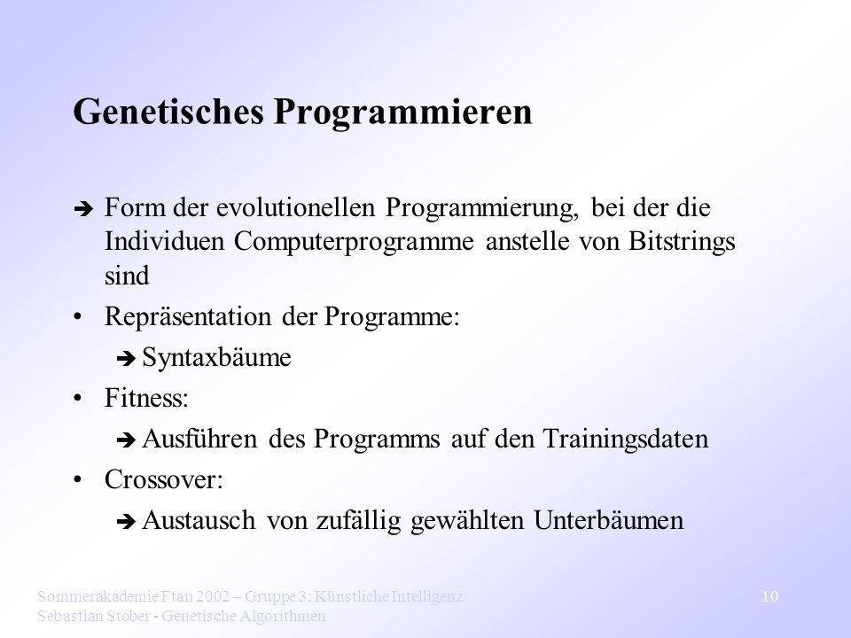 Genetisches Programmieren
