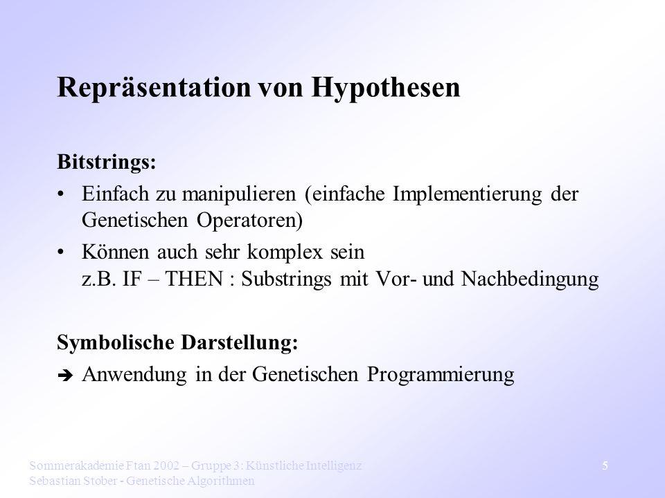Repräsentation von Hypothesen