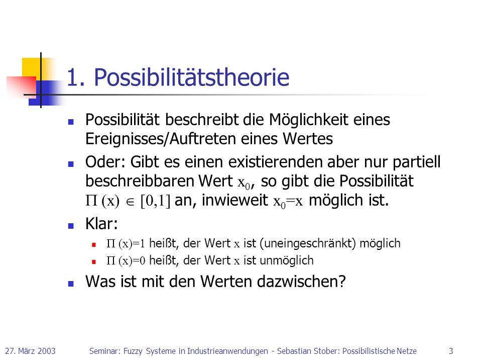 1. Possibilitätstheorie