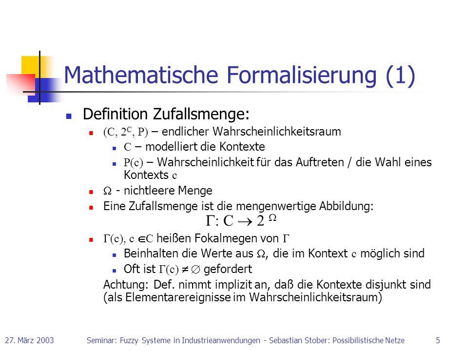 Mathematische Formalisierung (1)