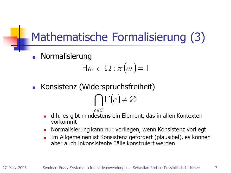 Mathematische Formalisierung (3)