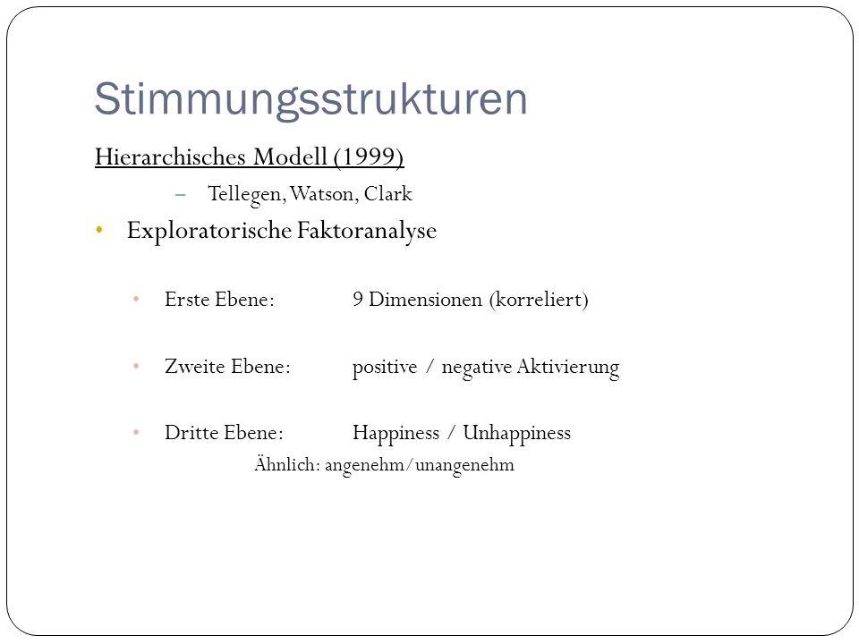 Stimmungsstrukturen Hierarchisches Modell (1999)