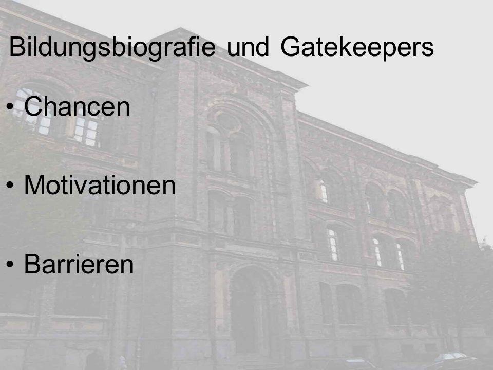 Bildungsbiografie und Gatekeepers