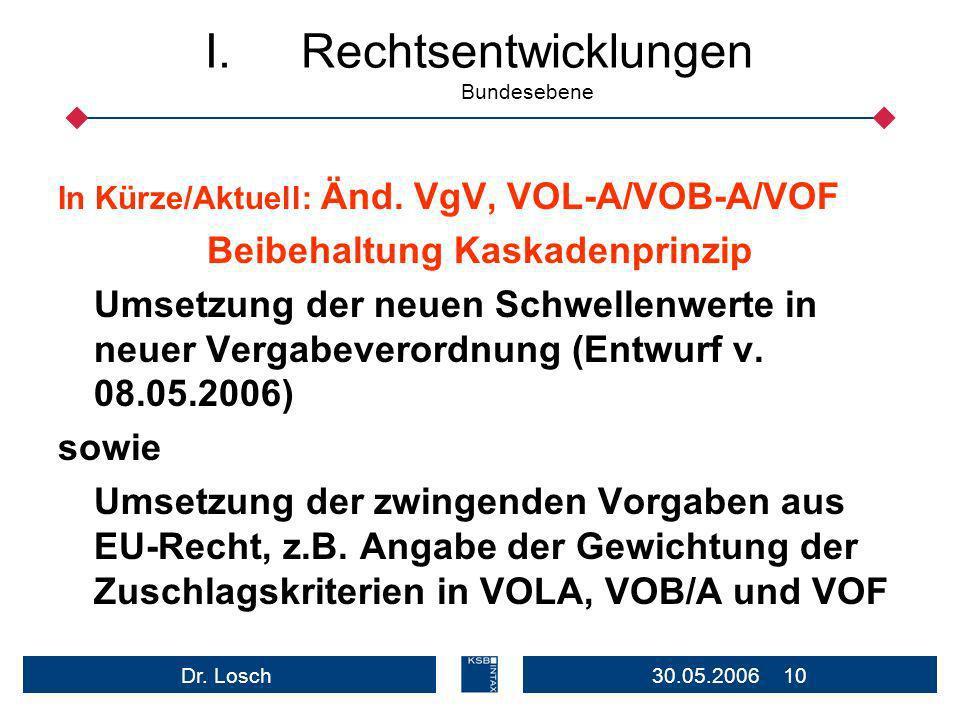 Rechtsentwicklungen Bundesebene