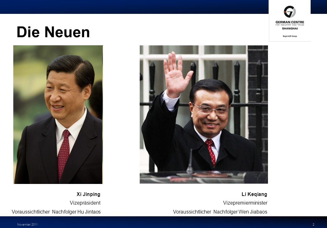 Die Neuen Xi Jinping Vizepräsident