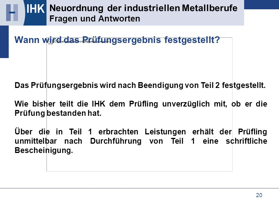 Neuordnung der industriellen Metallberufe Fragen und Antworten