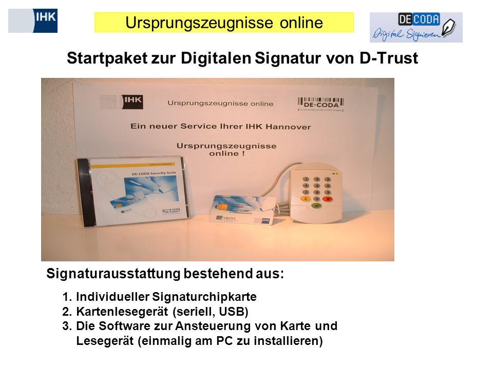 Startpaket zur Digitalen Signatur von D-Trust
