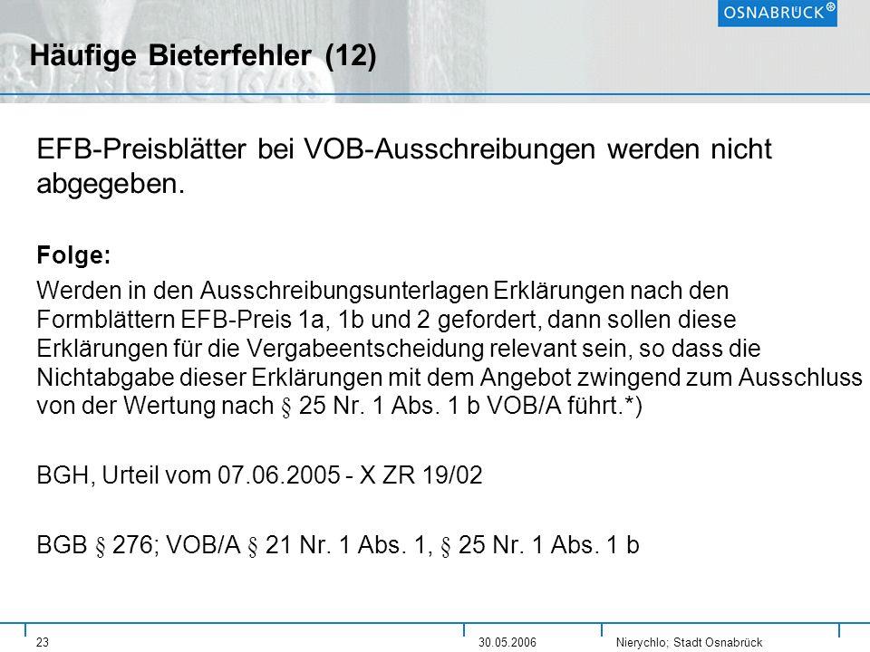 Häufige Bieterfehler (12)