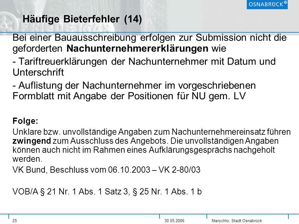 Häufige Bieterfehler (14)