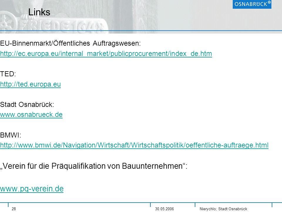 """Links """"Verein für die Präqualifikation von Bauunternehmen :"""