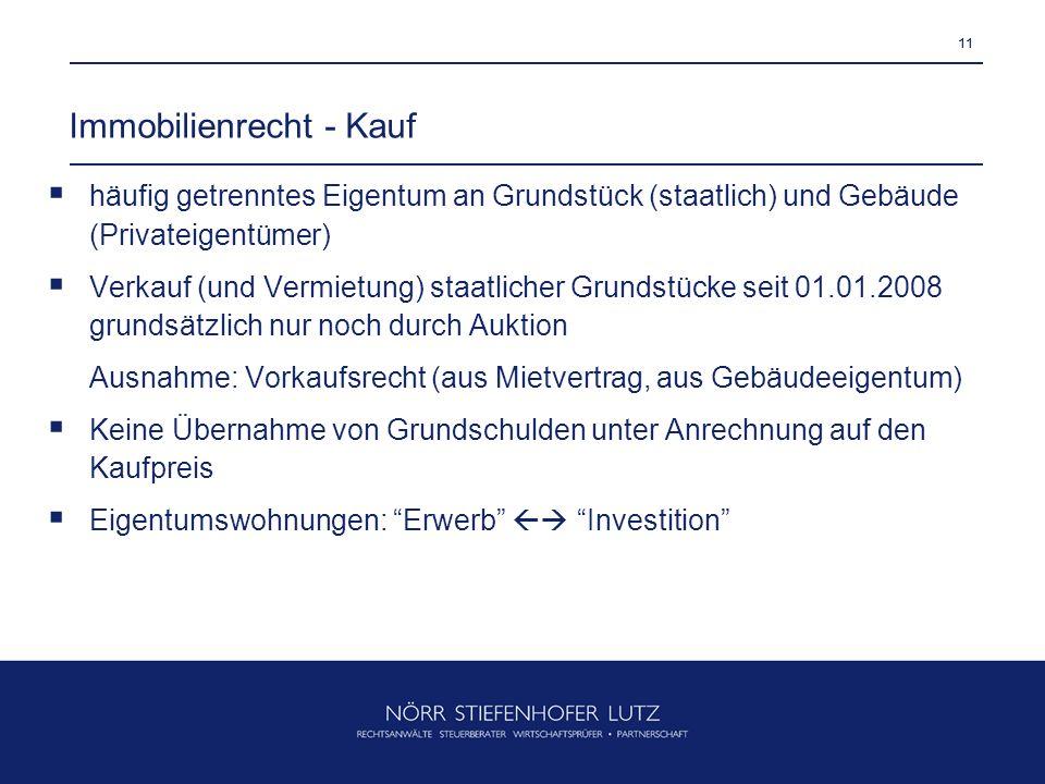 Immobilienrecht - Kauf