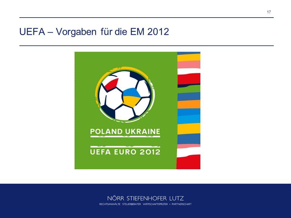 UEFA – Vorgaben für die EM 2012