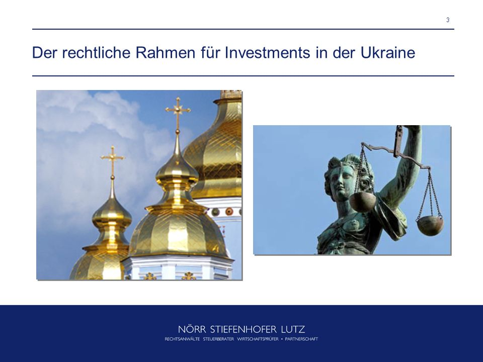 Der rechtliche Rahmen für Investments in der Ukraine